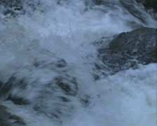 Pan down view along river Stock Footage