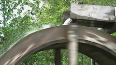 Waterwheel sluice close Stock Footage