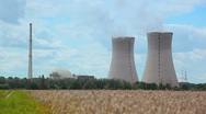 Stock Video Footage of Nuclear Power Plant