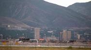 Stock Video Footage of Salt Lake City Skyline on the Mountains