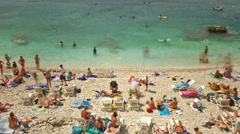 People at the beach Stock Footage