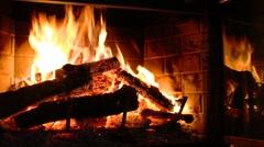 Fireplace - stock footage