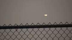 UFO coming in for a landing at the Salt Lake Airport Stock Footage