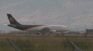 Stock Video Footage of UPS Jet Just Landed at the Salt Lake Airport