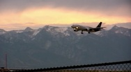 UPS Jet Flys into the salt lake airport to deliver packages Stock Footage