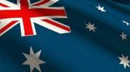Australia Flag High Detail Manual Stitches Linen Seamless 2K Stock Footage