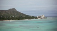 Stock Video Footage of Diamond Head 01 HD