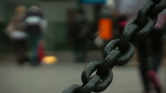 Heavy chain in detail Stock Footage