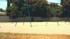Left Out School Kid at Recess Playground Stock Footage