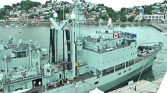 Canadian military boat Stock Footage