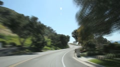Palos Verdes Coast Drive Stock Footage
