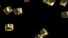 Gold boxes rolled on Stock Footage