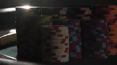 Dramatic Poker Chips Back Lit - stock footage