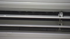 ECU, air condition vent rotating Stock Footage