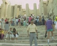 Tourists standing on steps Footage
