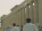Zoom out from Parthenon Stock Footage