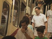 Stock Video Footage of People leaving public transport
