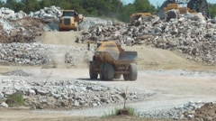 Quarry Trucks Stock Footage