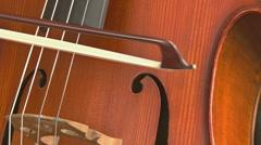 Cello close - long bows 1 Stock Footage