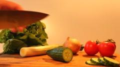 Salad ingredients Stock Footage