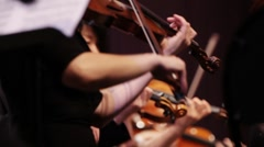 Violin at a concert play music Stock Footage