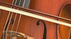Cello close - fast bowing 1 Stock Footage