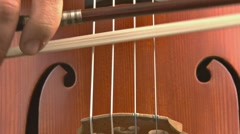 Cello close - fast bowing 2 Stock Footage