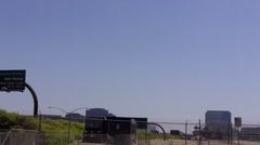 Small plane landing at John Wayne Airport (SNA) Stock Footage