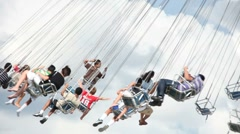 Swing Ride at the County Fair Stock Footage