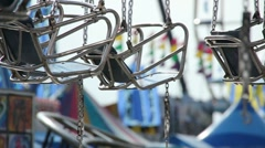 Empty Ride at the County Fair Stock Footage