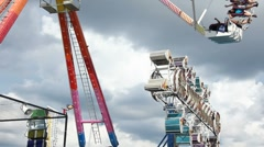 Fun Rides at the County Fair Stock Footage