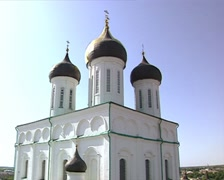 Trinity Cathedral in Pskov Stock Footage