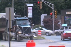 Intersection Construction - stock footage