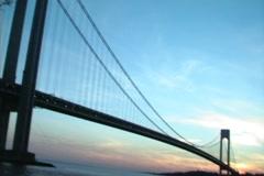 Verrazano Bridge Sunset Stock Footage