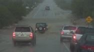 Part 1 - Monsoon flash floods the streets - mayhem at work - 4 Stock Footage