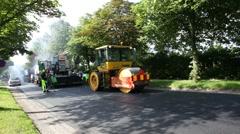 Yellow asphalt drum Stock Footage