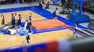 Acrobatic basketball show Stock Footage