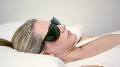 Chiropractic laser treatment Stock Footage