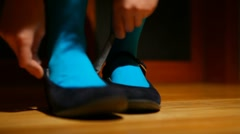 Girl shoes shoes Stock Footage