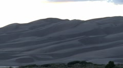 Sunset at Great Sand Dunes National Park Stock Footage