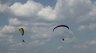 Parachutist, Parachute, Paragliding, Extreme Sport, Adventure, Recreation Stock Footage