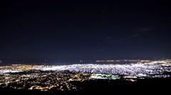 Öinen kaupunki timelapse Blue Arkistovideo