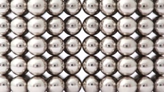 Fingers take structure of magnet balls and divide it Stock Footage