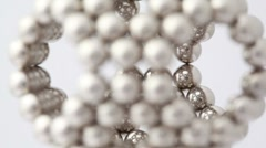 Magnet balls in spherical structure with hexagonal cells Stock Footage