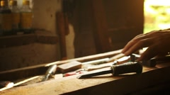 Work in the carpentry shop. Stock Footage