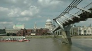 Stock Video Footage of Millenium bridge, st pauls, london