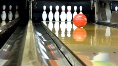 bowling strike - stock footage