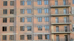 Building of a multipurpose ofisno-hotel complex. Stock Footage