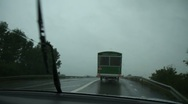 Stock Video Footage of Driving on a rainy road