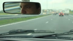 Driving on a highway Stock Footage